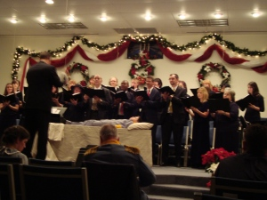 Choir (I'm on the far left. See me?)